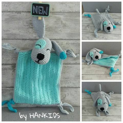 Download Crochet Pattern Snuggly Blanket Dog immediately at Makerist