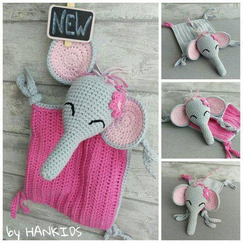 Download Crochet Pattern Snuggly Blanket Elephant immediately at Makerist