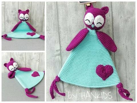 Download Crochet Pattern Snuggly Blanket Owl immediately at Makerist