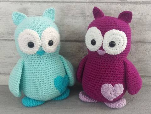 Download Crochet Pattern Owl immediately at Makerist