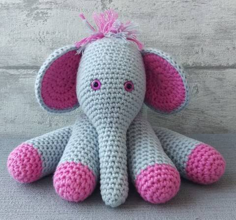 Download Crochet Pattern Elephant immediately at Makerist