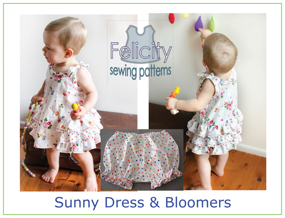 Baby dress & bloomers sewing pattern -- Sunny Dress & Bloomers