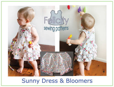 Download Baby dress & bloomers sewing pattern -- Sunny Dress & Bloomers immediately at Makerist