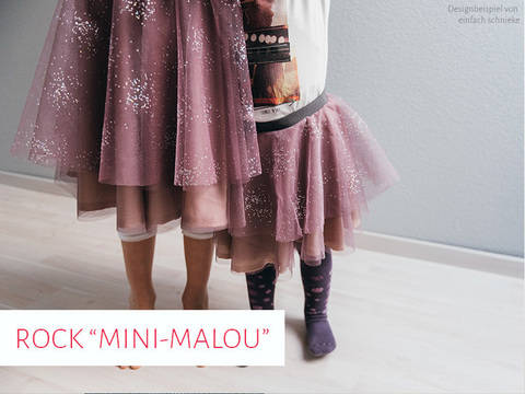 Stufenrock Mini-Malou bspw. aus Tüll, Gr. 92 - 164 bei Makerist sofort runterladen