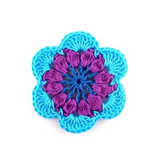 Häkelanleitung Blume / Blüte (Applikation) - Häkelanleitungen bei Makerist sofort runterladen