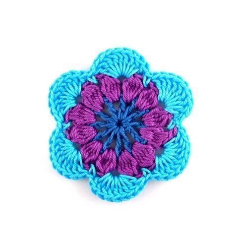 Häkelanleitung Blume / Blüte (Applikation) bei Makerist sofort runterladen
