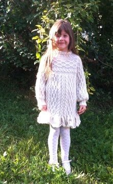 Download Anamchara - Jumper / Sweater / Dress for Girls 5 years size 122 - Knitting Patterns immediately at Makerist
