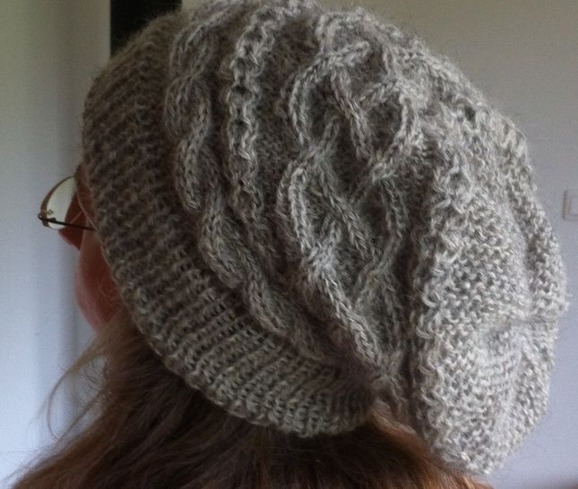 Download Sandalphon - Cable Hat Beanie Adults Unisex - Knitting Patterns immediately at Makerist
