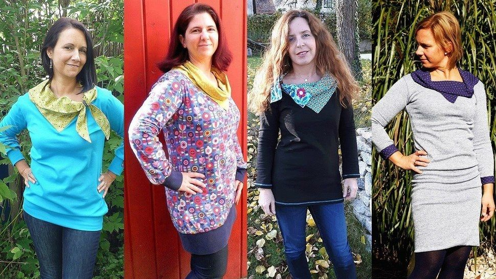 Shirt/Kleid sugar&bow mit kleinem Geheimnis im Kragen - Nähanleitungen bei Makerist sofort runterladen