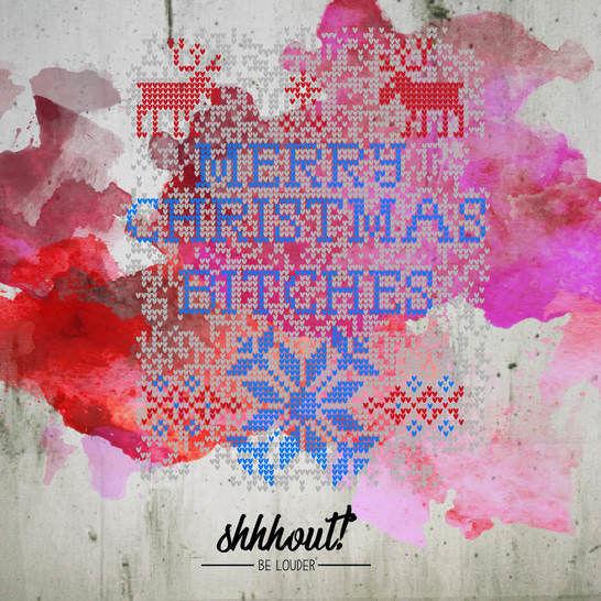 MERRY CHRISTMAS BITCHES - Plotterdatei - Plotterdateien bei Makerist sofort runterladen