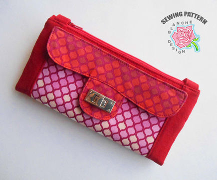 Download Crossbody Clutch Purse Pattern with a smart phone pocket - Sewing Patterns immediately at Makerist