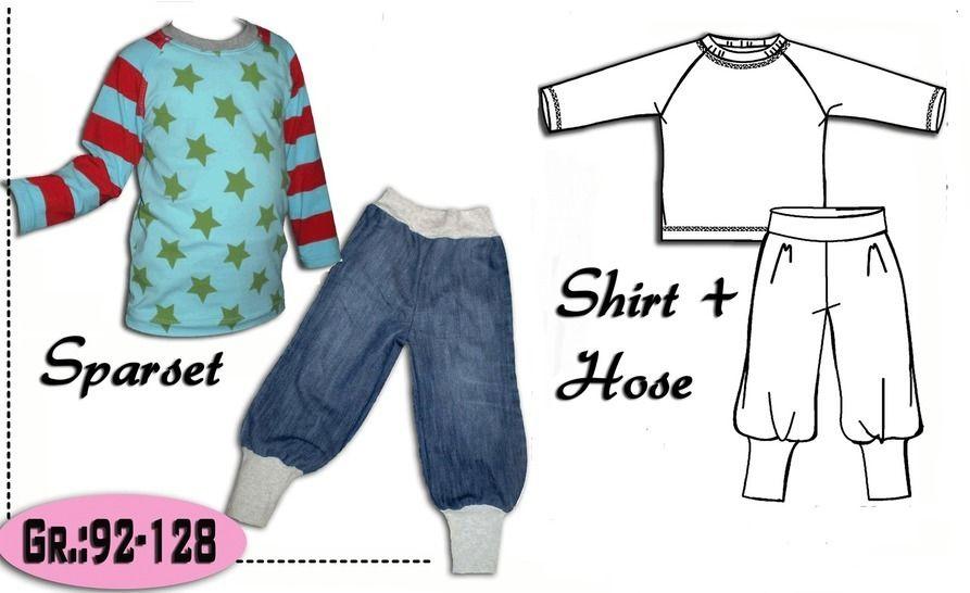 Sparset Shirt +Pumphose Gr.:92-128 Ebook - Nähanleitungen bei Makerist sofort runterladen