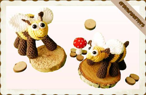Häkelanleitung (019): Bienchen bei Makerist sofort runterladen