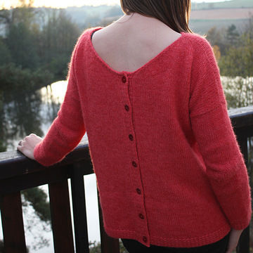 Download Sur Un Nuage - Women cardigan back buttoned XS to 3XL - Knitting Patterns immediately at Makerist