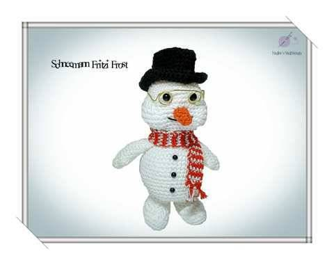 Häkelanleitung: Schneemann Fritzi Frost mit Zylinder bei Makerist sofort runterladen