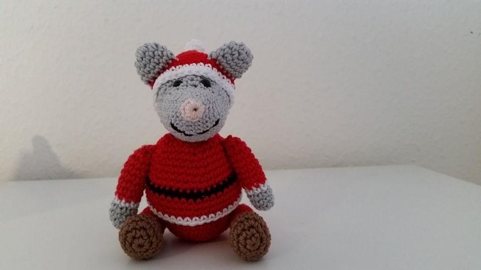 "Nikolaus-Maus ""Mini"" - Häkelanleitung - Häkelanleitungen bei Makerist sofort runterladen"