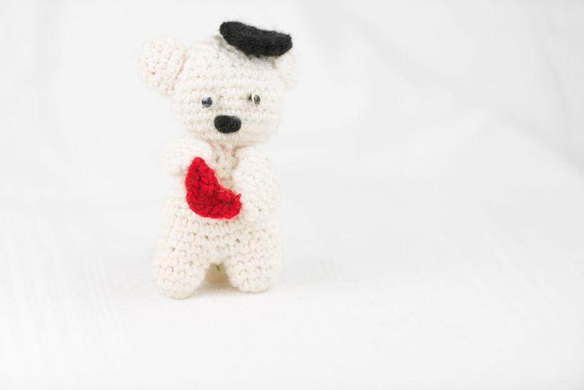 Häkelanleitung: Valentinesbär  - Häkelanleitungen bei Makerist sofort runterladen
