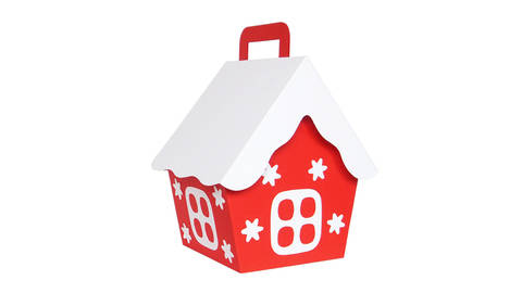 """Weihnachtsverpackung """"Häuschen"""" – Bastelvorlagen mit Anleitung bei Makerist sofort runterladen"""