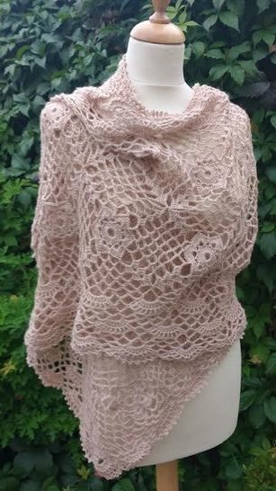 Download Lacy Crochet Wrap Pattern - Crochet Patterns immediately at Makerist