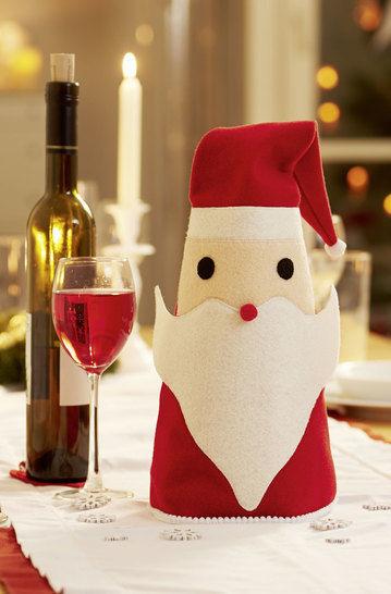 """Flaschenhusse """"Weihnachtsmann"""" Nähanleitung und Schnittmuster"""