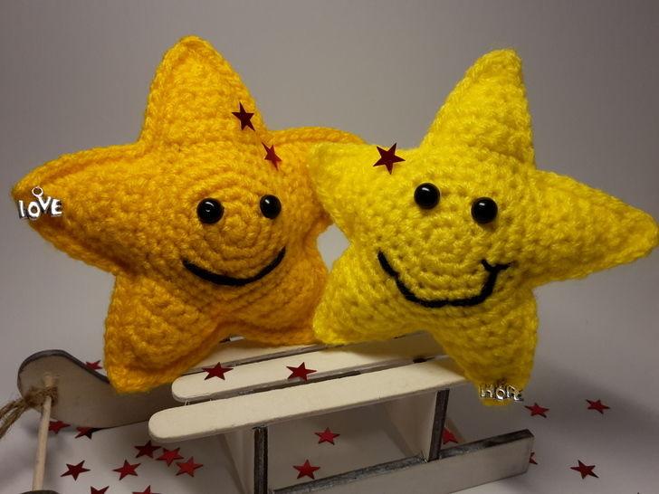 """Amigurumi """"Sterne Hope und Love"""" – Häkelanleitung - Häkelanleitungen bei Makerist sofort runterladen"""