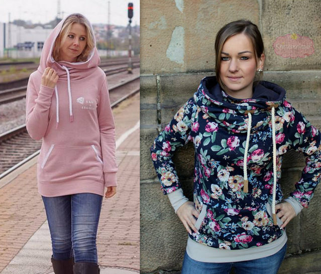 Download ebook Hoodie JOLINE Size XS- XXXL - Sewing Patterns immediately at Makerist
