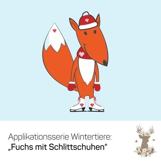 "Applikation ""Fuchs"" - Nähanleitungen bei Makerist sofort runterladen"