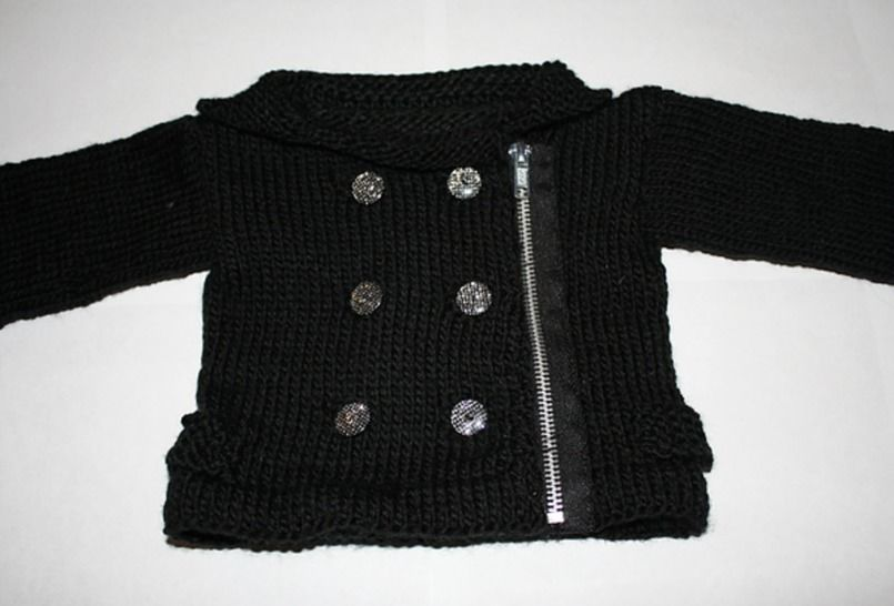 Download Baby Moto Jacket & Boots - Knitting Patterns immediately at Makerist