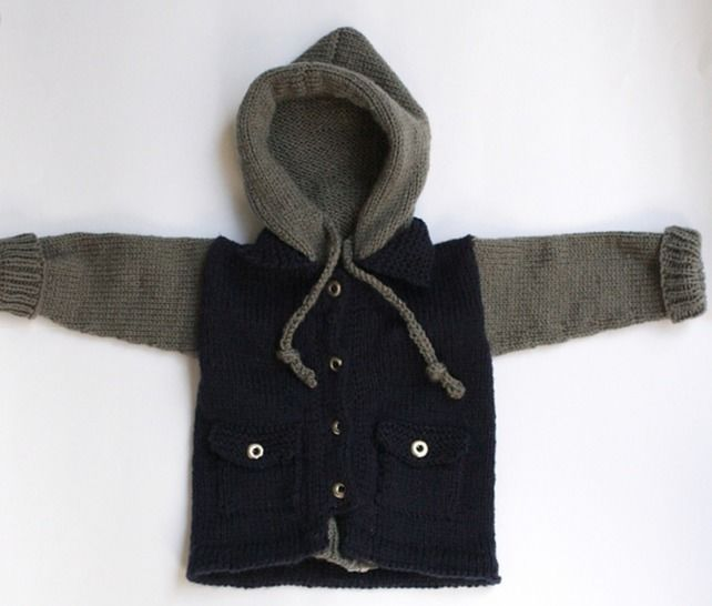 Download Baby Hoodie Jacket - Knitting Patterns immediately at Makerist