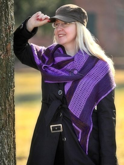 Download Knitting pattern shawl, wrap Mellon - Knitting Patterns immediately at Makerist