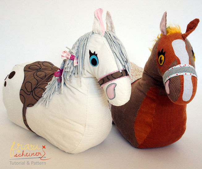 Ride-on plush horse english pattern - Nähanleitungen bei Makerist sofort runterladen