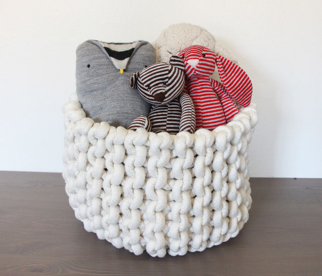 Download Knit rope basket - Knitting Patterns immediately at Makerist