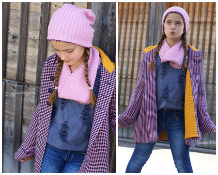 Download GIRLS COAT SEWING PATTERN, HOODIE JACKET, PEA COAT, WINTER COAT, PDF SEWING PATTERN - Sewing Patterns immediately at Makerist