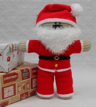 Download Santa Claus costume for teddy bear - Knitting Patterns immediately at Makerist