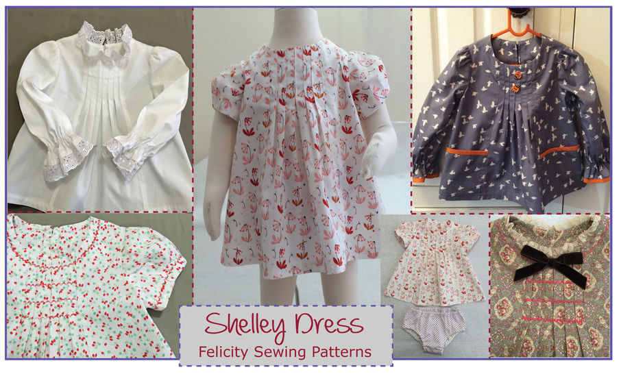 Download Baby & girls dress, tunic or top sewing pattern -- Shelley Dress & Top - Sewing Patterns immediately at Makerist