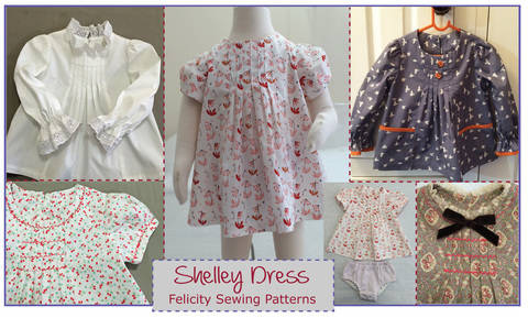 Download Baby & girls dress, tunic or top sewing pattern -- Shelley Dress & Top immediately at Makerist