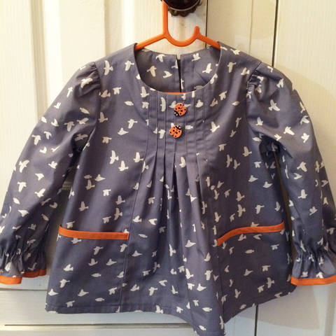 Download Girls dress, tunic or top sewing pattern -- Shelley Dress or Top immediately at Makerist
