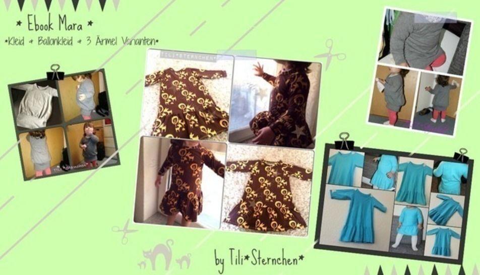 Ebook #18 Mara Kleid Ballonkleid - Nähanleitungen bei Makerist sofort runterladen