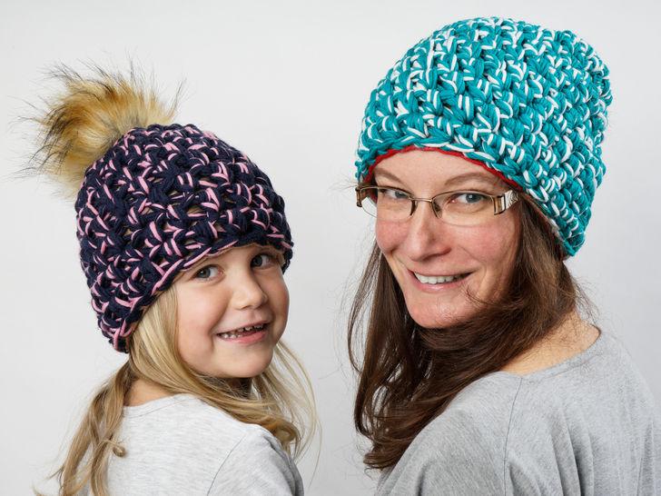 20 E-Book Mama-Tochter-Beanie  - Häkelanleitungen bei Makerist sofort runterladen