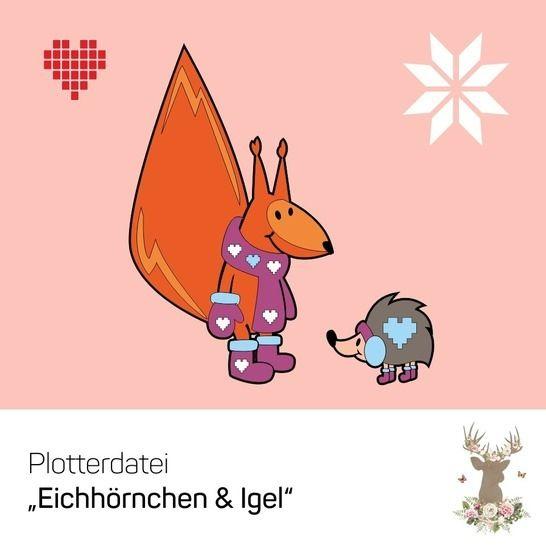 """Plotterdatei """"Eichhörnchen & Igel"""" - Plotterdateien bei Makerist sofort runterladen"""