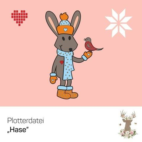 """Plotterdatei """"Hase & Vogel"""" bei Makerist sofort runterladen"""