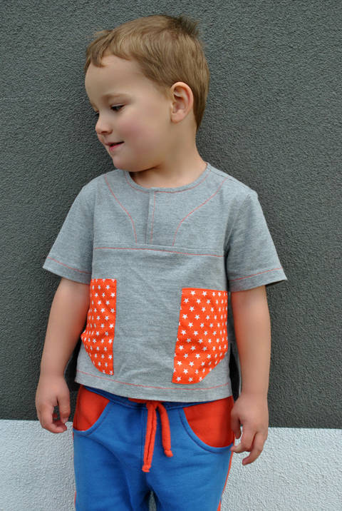 Download Boys Casual Shirt Sewing Pattern -- The Kieran Shirt immediately at Makerist