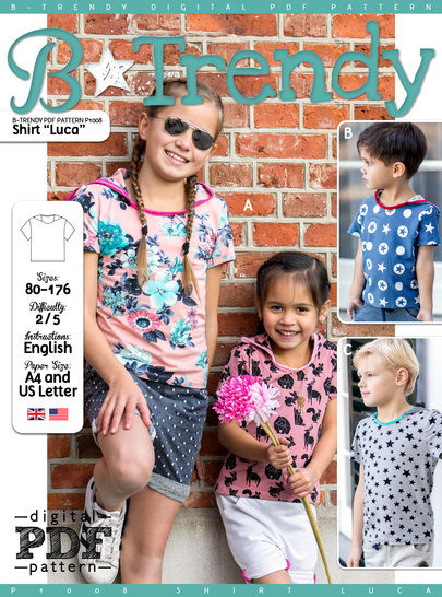 Download Shirt LUCA PDF Pattern + Tutorial - Sewing Patterns immediately at Makerist