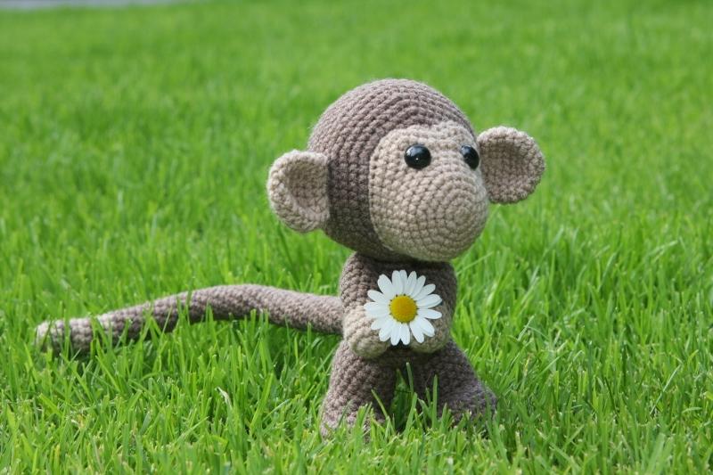 Häkelanleitung Süßer Affe Chimp