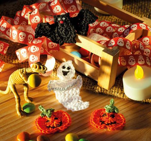 Häkelmotive zu Halloween Häkelanleitung bei Makerist sofort runterladen