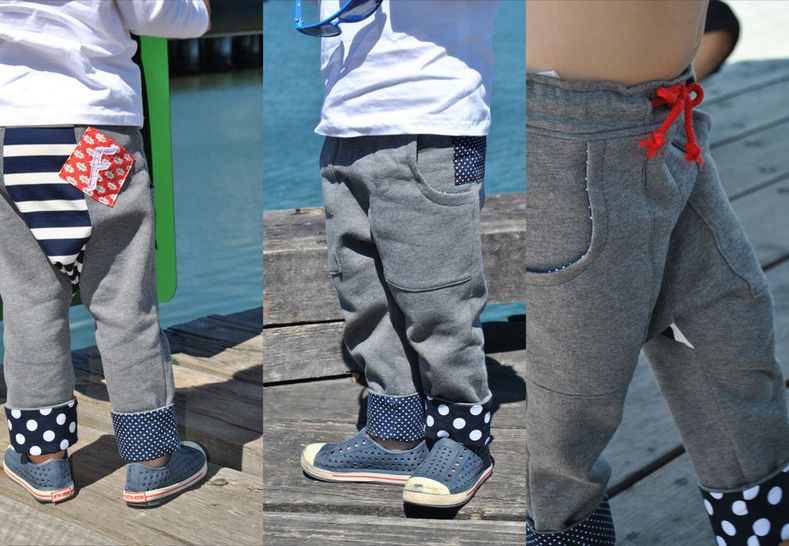 Download Boys Fleece Pants Sewing Pattern -- Rascal Pants for boys & tomboys. - Sewing Patterns immediately at Makerist