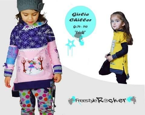 Girlie Chiller * Vokuhila Pullover * Schnittmuster & bebilderte Nähanleitung * Gr. 74 - 146 bei Makerist sofort runterladen