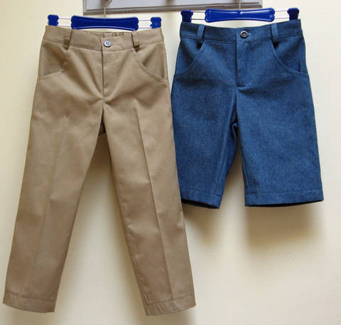 Download PDF sewing pattern for boys casual trousers -- Slim Jim Pants immediately at Makerist
