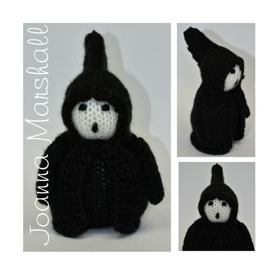 Download Knitting Pattern - Scrooge - Ghost of Christmas Future Doll  - Knitting Patterns immediately at Makerist