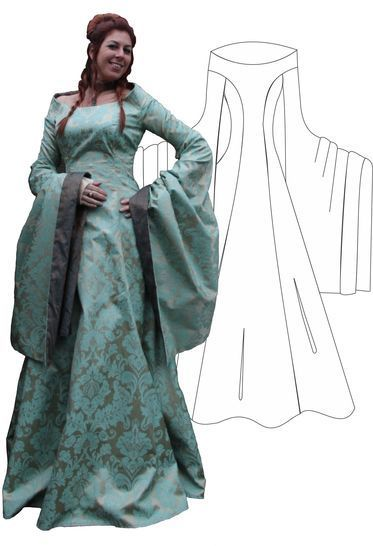 "Download Fantasydress ""Pavane"" small sizes - Sewing Patterns immediately at Makerist"